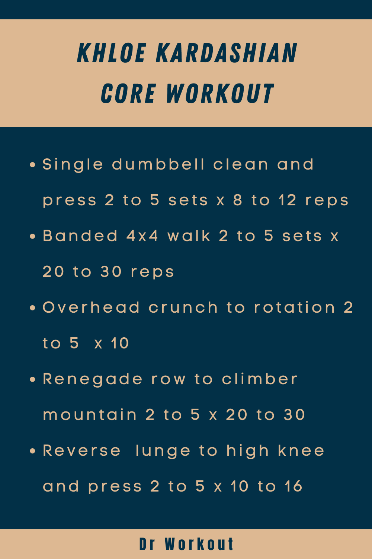 Khloe Kardashian Core Workout
