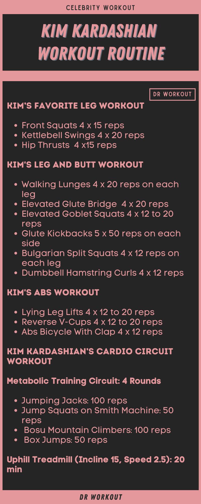 Kim Kardashian Workout Routine