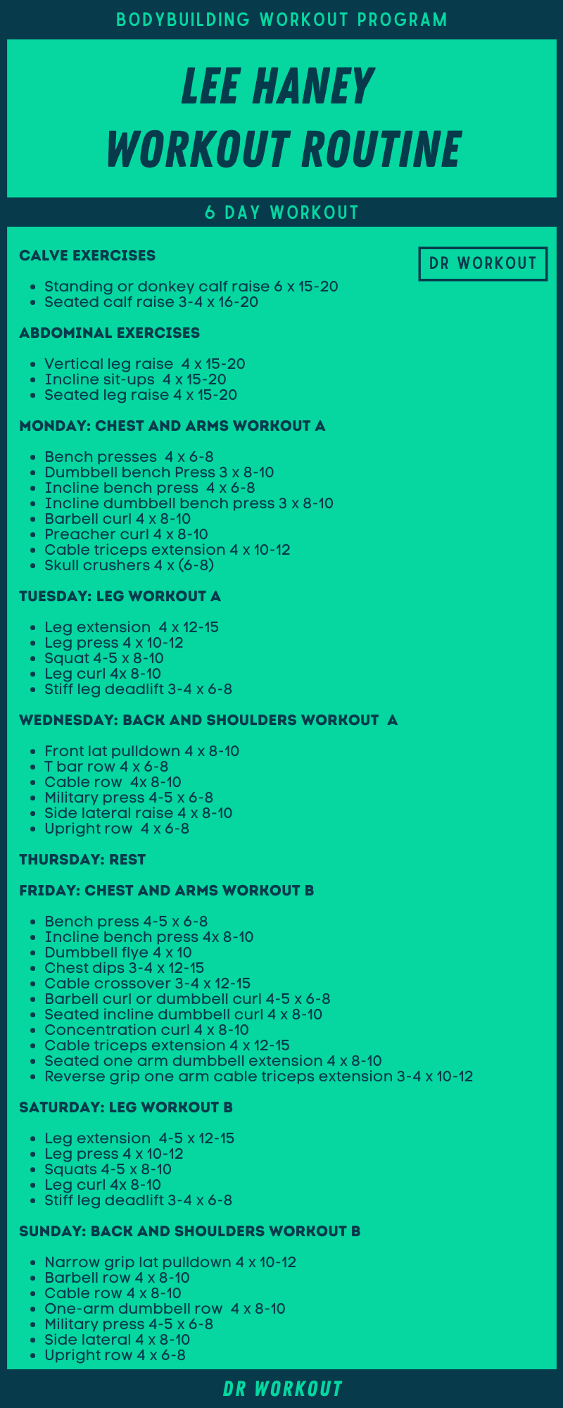 Lee Haney Workout Routine