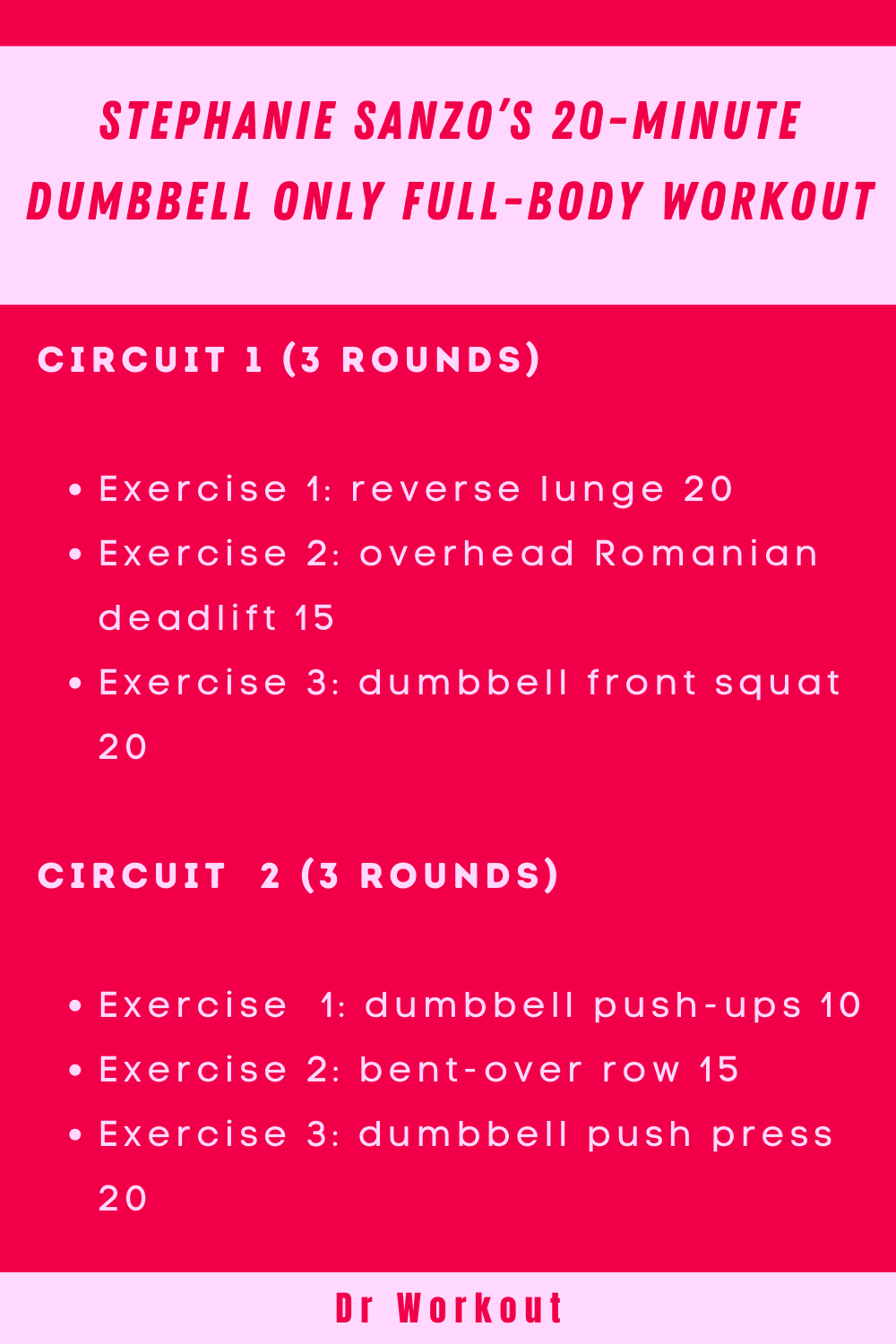 Stephanie Sanzo Dumbbell Only Full-Body Workout