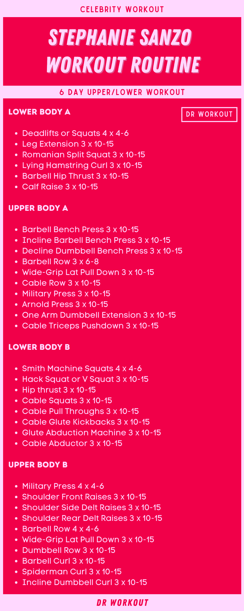 Stephanie Sanzo Workout Routine
