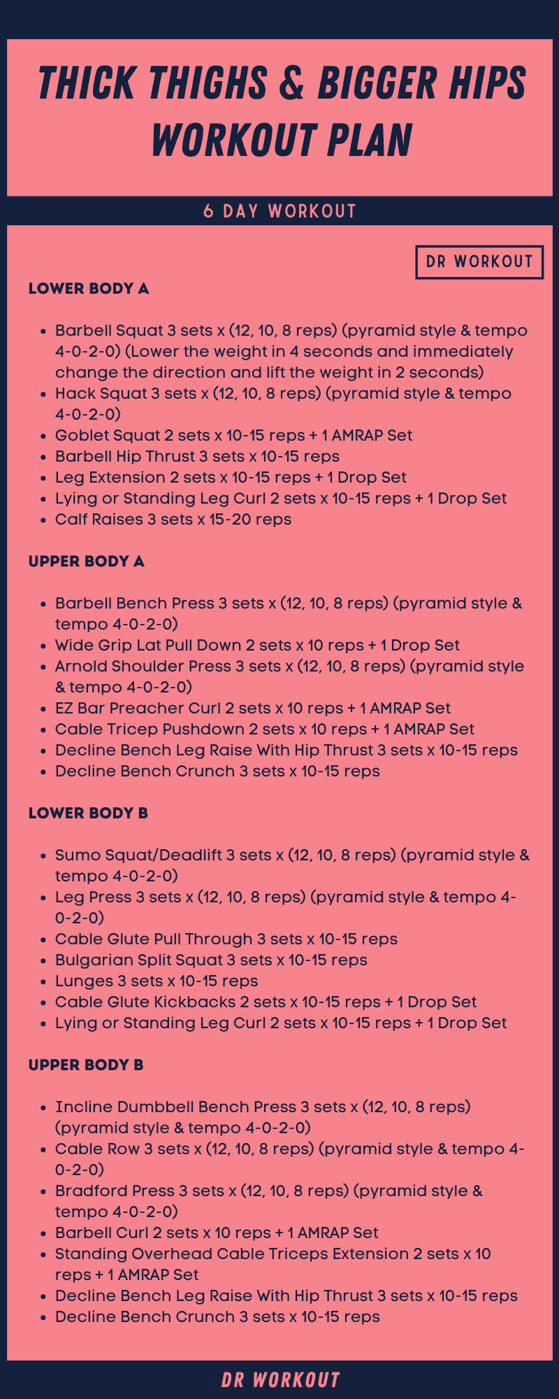 Thick Thighs & Bigger Hips Workout Plan