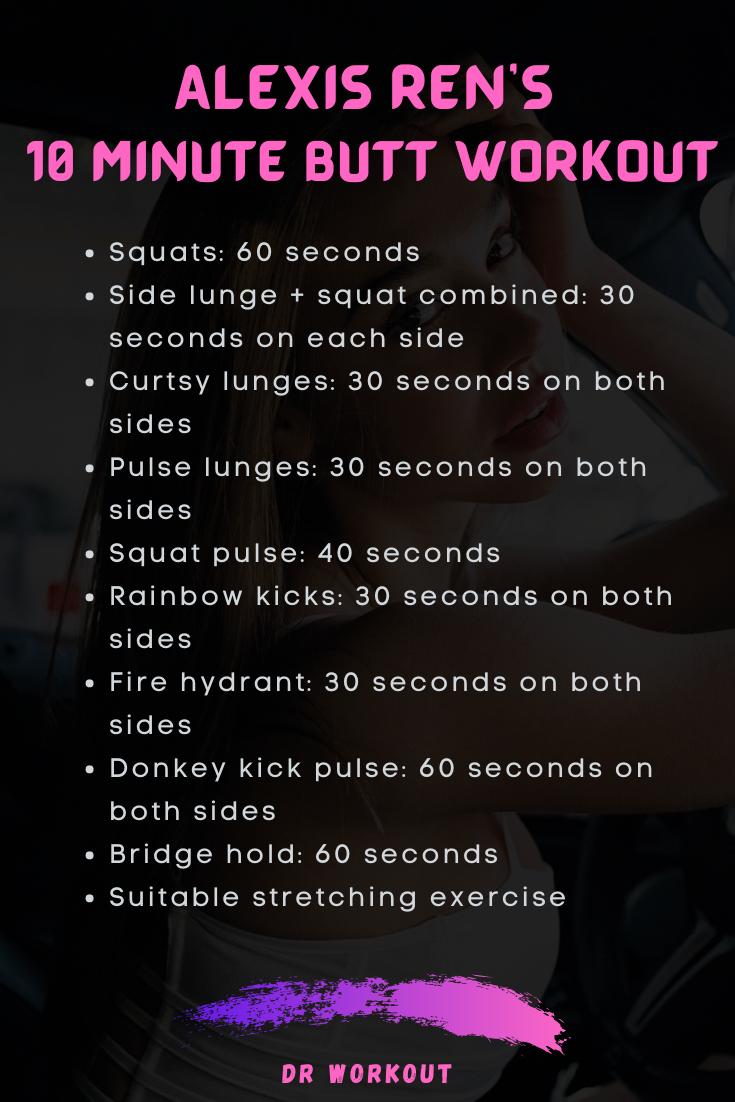 Alexis Ren 10 minutes Butt Workout