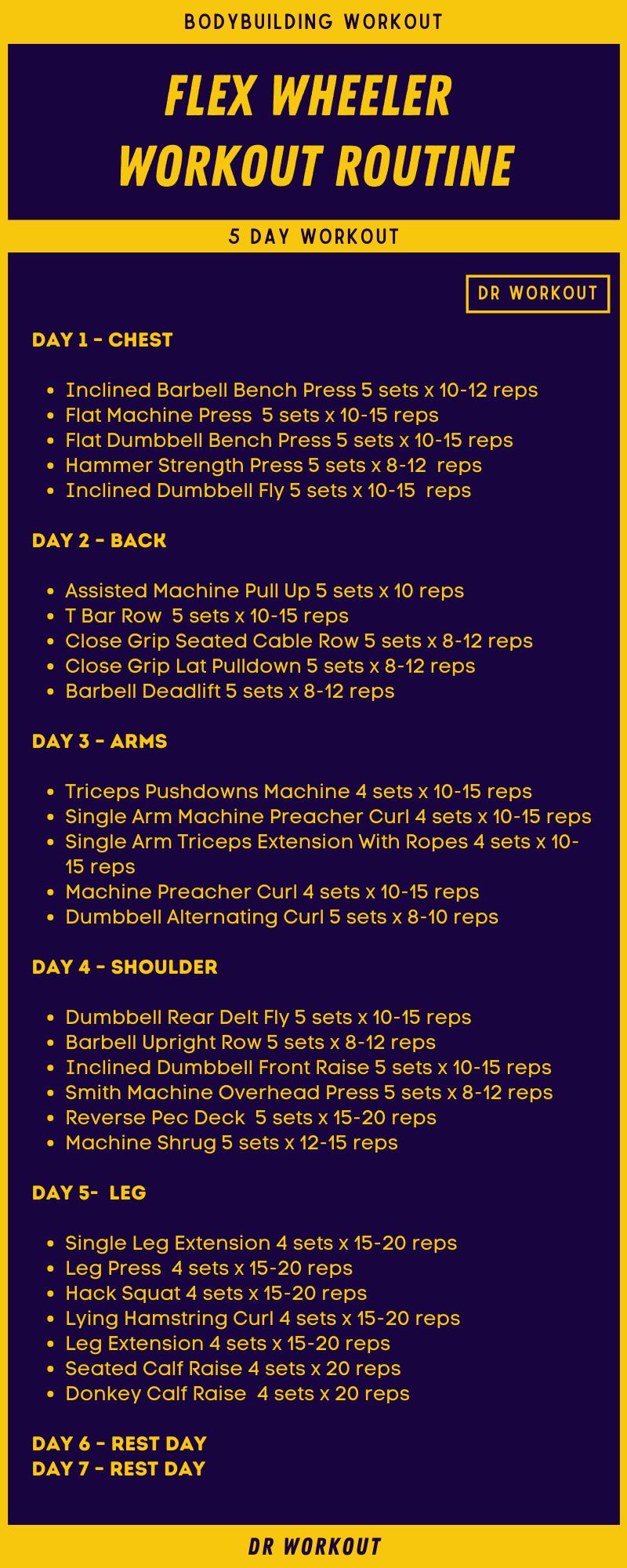 Flex Wheeler Workout Routine