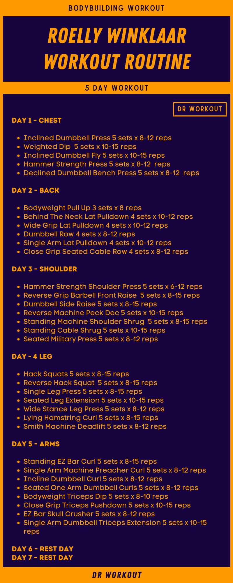 Roelly Winklaar Workout Routine