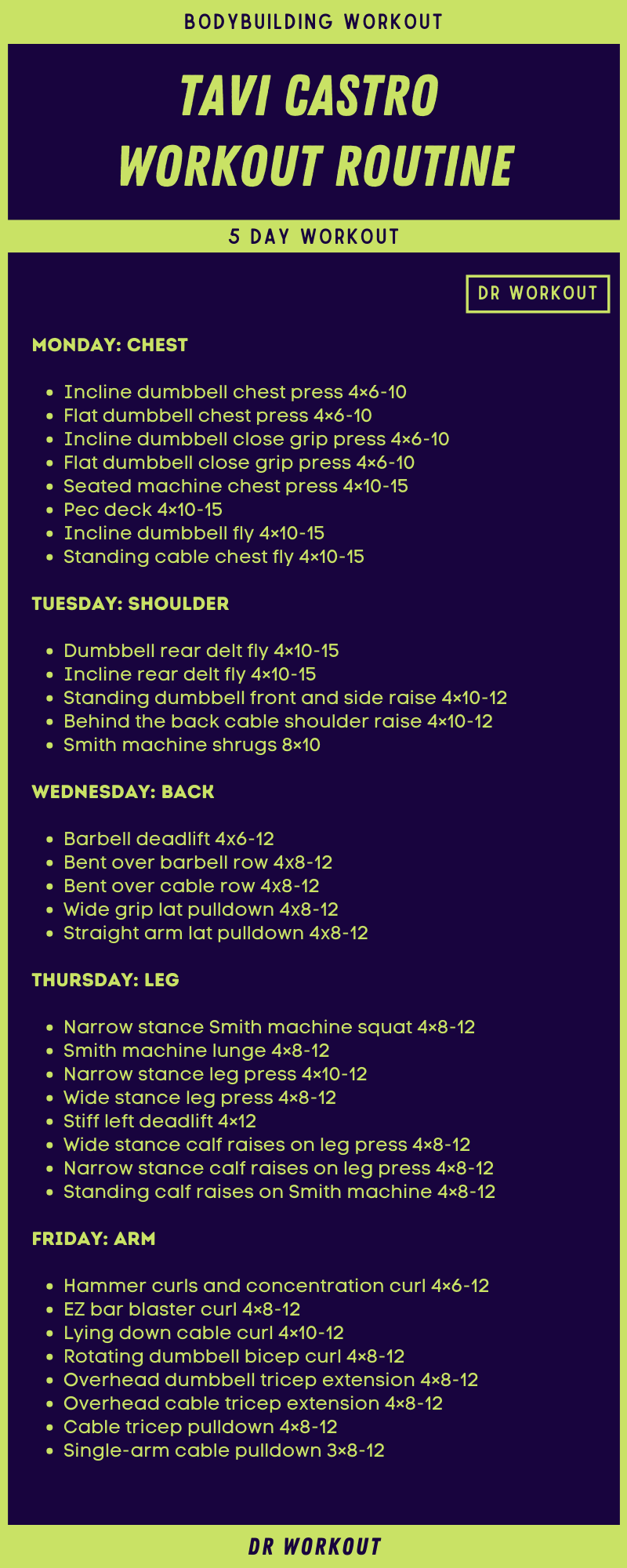 Tavi Castro Workout Routine